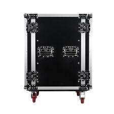 16 Space Pro Audio Dj Road Rack Case with Casters - 16U Pro Tour Grade Case