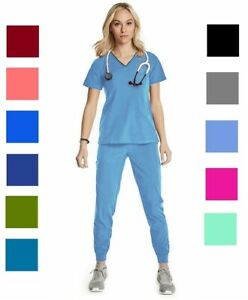 Women's Scrub Set Jogger Pants with Matching Top - Stretch -  Brand New.