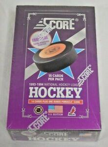 1993-94 Score Hockey U.S. Edition Factory Sealed Wax Box 36 Packs