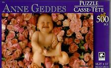 """2015 Anne Geddes Puzzle Roses Baby 500 Pieces 18.25"""" X 11"""" NEW #TY07"""