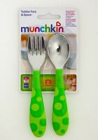 Munchkin Fork and Spoon Green Baby Cutlery Set BPA FREE 12 months+