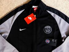 New MEDIUM PSG PARIS SAINT GERMAIN Black Track Jacket  Mens Football Tags Soccer