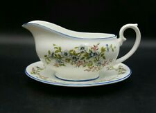More details for vintage crown staffordshire richmond gravy sauce boat and plate-excellent