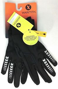 Softshell Fleece Lined Reflective Gloves S/M Xersion Touchscreen Black NWT $32
