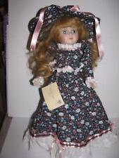 Betty Jane Carter Musical Doll, Porcelain, Charlotte, Dark Floral Dress, 17 inch