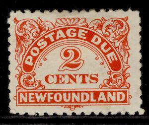 CANADA - Newfoundland GVI SG D2, 2c vermilion, M MINT. Cat £20. PERF 10