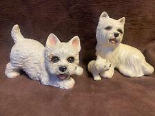 Vintage West Higland White Terrier Lot Westie Dog Kathy Wise Enesco Purebred Pet