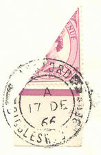 2304 1966 extremely rare bisected marginal QEII Wilding 6 D. as 3 D.-postage RR!
