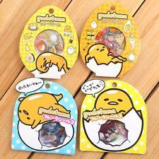 Newly 60pcs DIY Cute Kawaii PVC Stickers Lovely Gudetama Lazy Egg Sticker Decal
