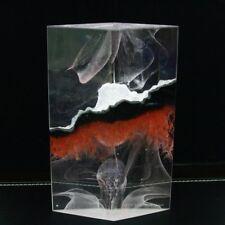 """COLIN REID Two Pieces Art Glass Unique Perfume Bottle,Apr 8.5"""" H & 5.25""""W"""