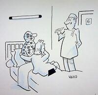 [ Humor - Presse ] Guy Valls - Wander Krankenhaus - Zeichnung Original