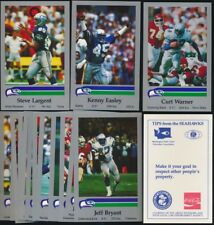 1987 Seahawks Police COMPLETE Team Set! Largent, Krieg, Warner, Easley, Knox!