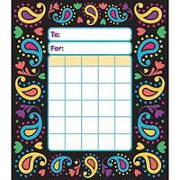 Perfectly Paisley Reward Incentive chart pad + 200 Free Chart sized Stickers