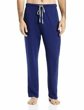 Hanes Lounge Pajama Sleepwear Mens ComfortBlend Cotton Knit Pant Large Blue NEW