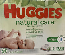 Huggies Natural Care Unscented Baby Wipes, Flip-Top Packs (288 Total Wipes)