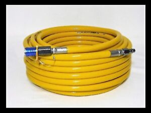 50' Scuba/Hookah Stamped Air breathing Dive hose quick connects FREE SAFETY CLIP