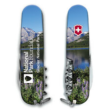 New Victorinox Swiss Army 91mm Knife   GLACIER NATIONAL PARK CAMPER L.E.   55363