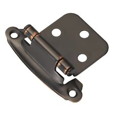 10 Oil-Rubbed Bronze Surface Self-Closing Flush Hinge (2-Pack) P244-OBH Hardware