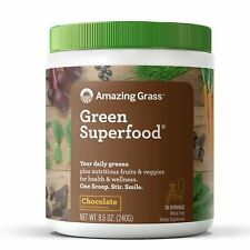 NEW!! Green Superfood Chocolate Drink Powder -30 Day Supply, 8.5oz