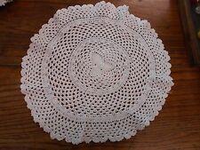 """white Vintage Hand Crochet crocheted Doilie 16"""""""