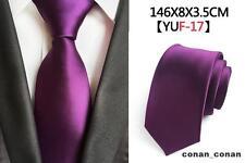 lila hecho a mano 100% Corbata De Seda