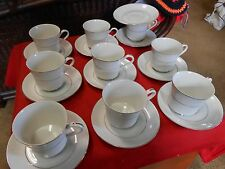 """Beautiful INTERNATIONAL SILVER CO, """"Wakefield""""  8 CUPS & SAUCERS- 1 FREE Saucer"""