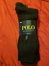 MEN'S POLO RALPH LAUREN DRESS SOCKS, 3-PACK, COLOR: BLACK, SIZE 7-11, NEW!