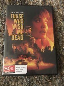 Those Who Wish me Dead - DVD - Angelina Jolie / Like New Region 4 R4 Aus Seller