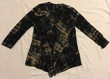 INC International Concepts Women Black Brown Long Sleeve Sweater Cardigan Sz PS