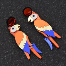 Womens Bird Parrot Dangle Earrings Acrylic Multicolors Jewelry Gift Fashion