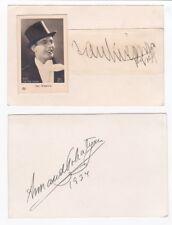 Two Tenor autographs JAN KIEPURA & ARMAND TOKYATAN