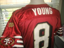 NFL YOUTH SAN FRANCISCO STEVE YOUNG #8 HOF QB THROWBACK JERSEY sz LARGE (14-16)