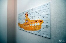 Audiocasette art-work wall decoration Beatles tribute Yellow submarine