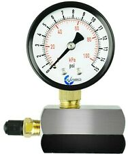 Gas Test Pressure Gauge 15 Pound 15 Psi 100 Kpa 34 Fnpt Connection Assembly