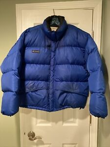 Mens Columbia Puffer Down Jacket Size XL