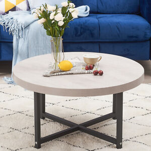 Round Coffee Table Sofa Side End Tables Living Room Home Furniture Tea Table NEW