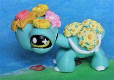 Littlest Pet Shop chibi Tortoise Turtle Flowers OOAK custom figure LPS spring