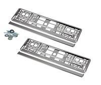 2 Kennzeichenhalter Nummernschildhalter Hochglanz Chrome für Audi KHP_2