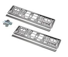 2 x Kennzeichenhalter Nummernschildhalter Hochglanz Chrome für Chrysler
