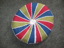 """NEW - ROUND HAND KNITTED & STUFFED REVERSIBLE CAT BED  19"""" ACROSS"""