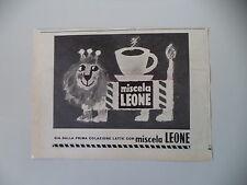 advertising Pubblicità 1961 CAFFE' MISCELA LEONE