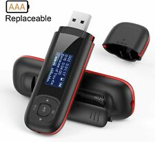 AGPTEK 8GB USB Stick Mp3 Music Player,Supports Replaceable AAA Battery,FM Radio