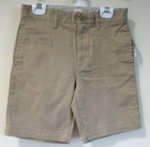 BNWT Gap Kids Dark Khaki Flat Front Shorts Boy's Size 4