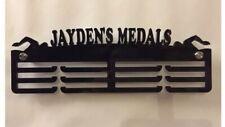 Personalised Thick Acrylic Triple Tier 5mm CUSTOM Swimming Medal Hanger / Rack