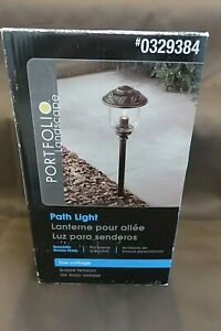 NEW Portfolio 11-Watt Specialty Bronze Low Voltage Path Light EL0420PBR