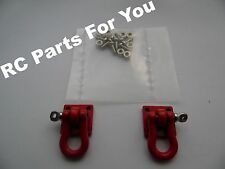 1:10 Scale Red Steel Tow Shackles for RC Rock Crawler or Truck suit tamiya