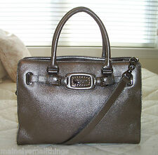 NWT Michael Kors JEWEL HAMILTON Large EW Tote Bag Leather GUNMETAL 38H3XHJT3M