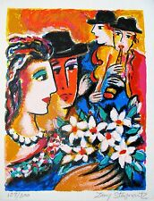 """ZAMY STEYNOVITZ """"LOVERS SERENADE"""" Hand Signed Limited Edition Lithograph"""