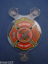 NFD NEWARK NJ - FIRE DEPARTMENT -  FAMILY MEMBER CAR SHIELD -  PBA - FOP - FMBA