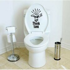 Think Tank Toilet Seat Decal/Sticker Art Bathroom Funny Joke